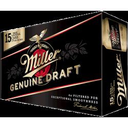 Miller Genuine Draft - 15 Cans